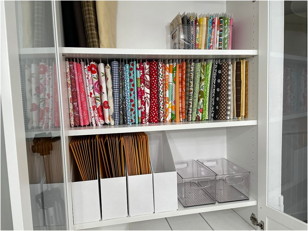 organize your fabric billy cabinet