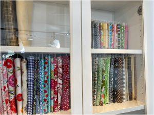 organize your fabric mini bolts shelf