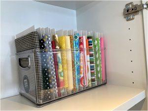 organize your fabric fat quarter box