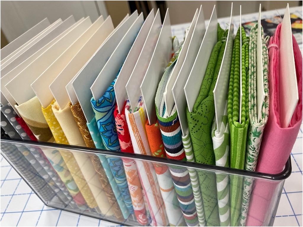 organize your fabric plastic box