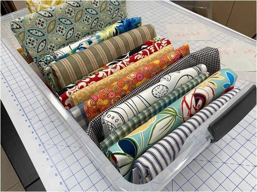 organize your fabric big pieces