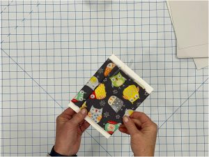 organize your fabric fat quarters folded